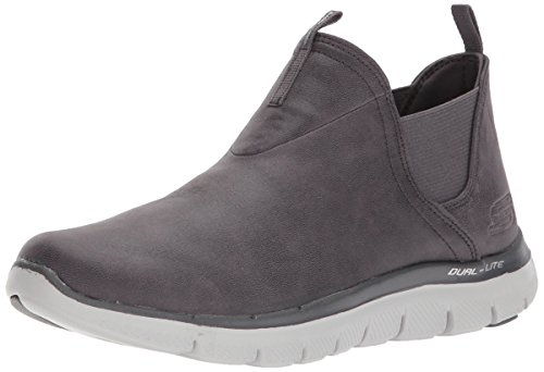 Skechers Sport Women's Flex Appeal 2.0-Done Deal Sneaker,Charcoal,9.5 M US