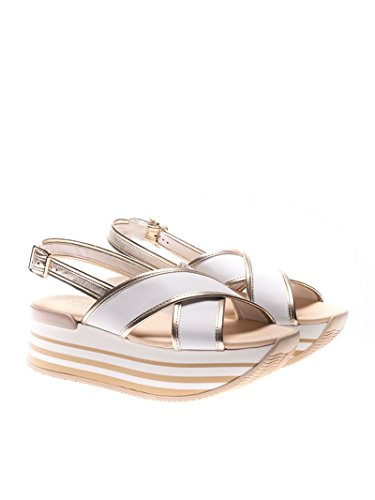 cheap sale comfortable Hogan Women's HXW2940U450I6W1556 White Leather Sandals buy cheap limited edition outlet huge surprise SOE7uYco