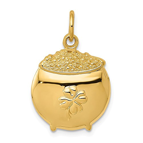 14k Pot Of Gold Pendant Charm Necklace Fine Jewelry Gifts For Women For Her