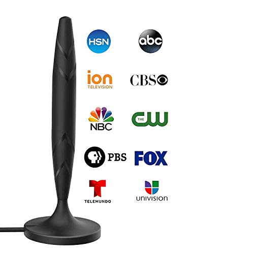 Digital TV Antenna for Indoor - HDTV Antenna with Amplifier Signal Booster for 4K HD Local Channels with Coaxial Cable Ultra High Definition TVs,Amplified 120 Mile Range Ultra 4K TV Antenna (Best Hdtv Antenna Indoor)