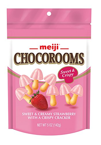 Meiji Choco Rooms, 5 Ounce (Pack of 12) (Cap Candy Mushroom)