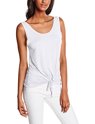 Only Onlmiley S/l Knot Ess, Tank Top Para Mujer Blanco (Bright White)
