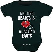Tstars - Melting Hearts & Blasting Farts Funny Bodysuit Cute Baby On