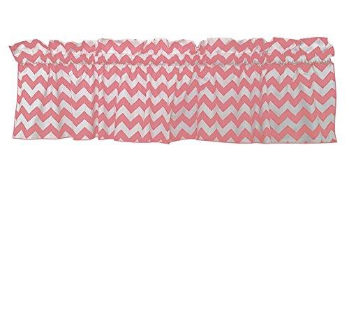 Zen Creative Designs Premium Cotton Curtain Valance / Window Decor / Window Treatments (18 Inch x 58 Inch, Pink)