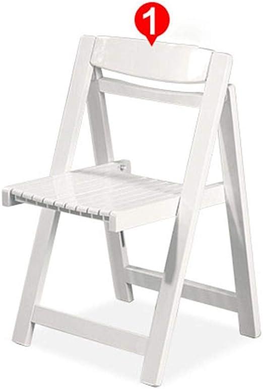 Sillas de Comedor Juego de 4 sillas Plegables de Madera Sillas de ...