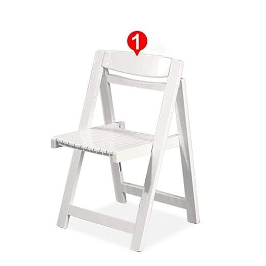 Sillas de Comedor Juego de 4 sillas Plegables de Madera ...