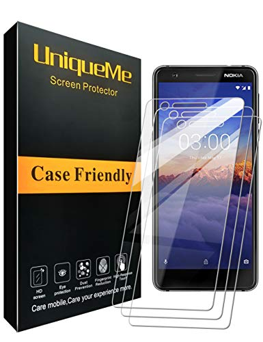 [3 Pack] INGLE Compatible with Nokia 3.1 Screen Protector,Bubble Free 9H Hardness [ Japan Tempered Glass ] with Lifetime Replacement Warranty for Nokia 3 2018 【 Not Fit for Nokia 3 】