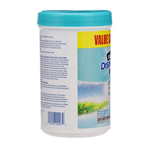 Disinfecting Wipes by Clean Cut, Fresh Scent, Value Size 200 Wet Wipes (Pack of 6, 1200 Total Wipes) - 4