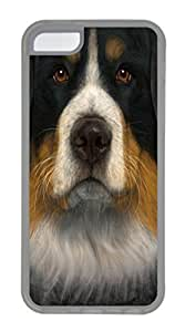 iPhone 5C Case iPhone 5C Cases Bernese Mountain Dog Face TPU Rubber Soft Case Back Cover for iPhone 5C Transparent