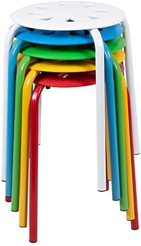 Flash Furniture Plastic Nesting Stack Stool