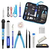 60W 110V/220V Power Switch Adjustable Temperature Electric Soldering Iron Tools Kit Welding Station - Electrical Soldering Tools Soldering Tools Kits - (220V EU Plug)