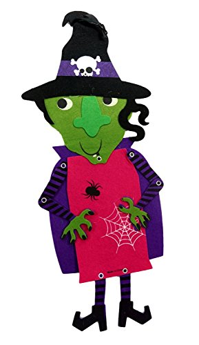 Happy Halloween Home Decor ~ Jointed Felt Witch Hanging Decoration (Happy Halloween Coloring Pages For Toddlers)