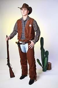 Chaps Cowboy pantalones marrones en los hombres. Tamaño: 44/46