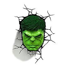 3D Light FX Marvel Hulk 3D-Deco LED Wall Light