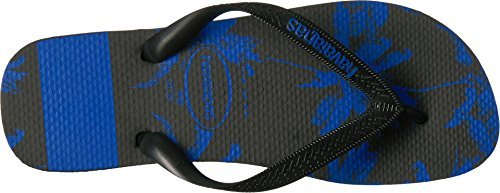 Havaianas Men's Top Stripes Logo Sandal Black/Blue Star 39-40 BR/8 D(M) - Havaianas Blue Yellow