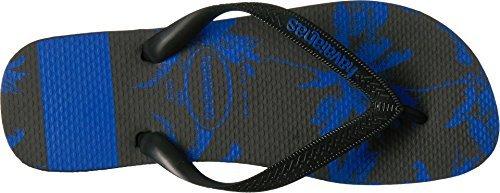 Havaianas Men's Top Stripes Logo Sandal Black/Blue Star 39-40 BR/8 D(M) - Yellow Havaianas Blue