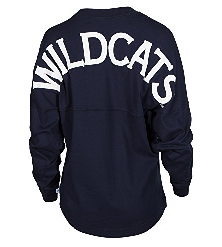 University of Arizona Wildcats U of A Wilber Wildcat BEAR DOWN! Women's Long Sleeve Spirit Wear Jersey T-Shirt (Arizona Wildcats Basketball Jersey)