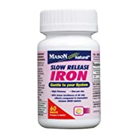 Mason Vitamins Slow Release Iron Compare to The Active Ingredients In Slow Fe, 60 Tablets (Pack of 2)