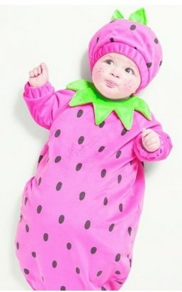 infant strawberry halloween costume, 0-6 months ()