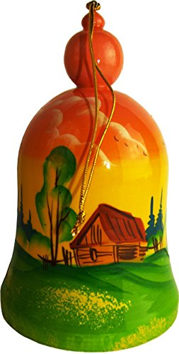 hand-painted-wooden-bell-hanging-ornament-russian-folk-art-wooden-crafts-summer-landscape-with-russi