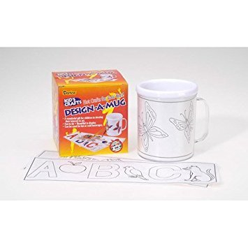 Bulk Buy: Darice Crafts for Kids Design-A-Mug (12-Pack) 2406-20 -