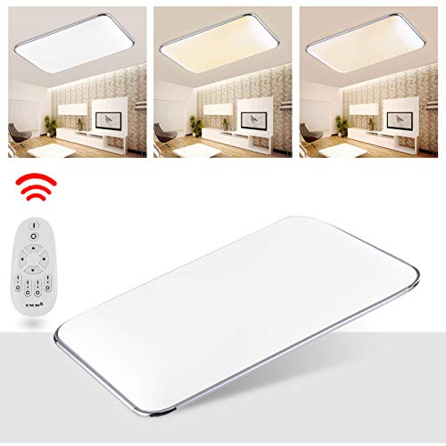 wolketon 48W Plafón LED Lámpara de Techo 2700-6500K Cool Blanco Calido Regulable luz de Techo Corredor Sala de Estar lámpara Dormitorio Ahorro de energía Iluminación de Techo
