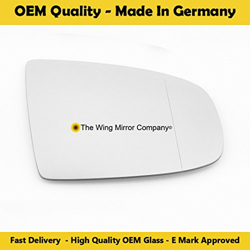 Silver Wide Angle Wing//Door Mirror Glass 2006 to 2013 Heated Driver Side Including Base Plate RH NIQashqai J10