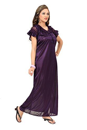 9476495685 Fashigo Women s Nightdress (FASNW032 Dark Purple Free Size)  Amazon.in   Clothing   Accessories
