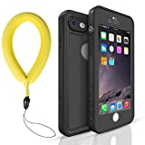 vcloo iPhone 7/8 Waterproof Case-Waterproof, Dust Proof, Snow Proof, Shock Proof Case with Touched Transparent Screen Protector, Heavy Duty Protective