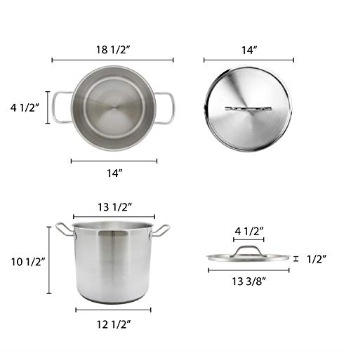 Thundergroup stainless steel stock pot with lid SLSPS024 NSF certified