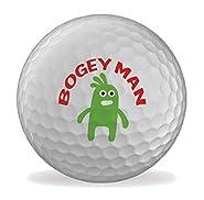 Bogey Man Funny 6 X Printed Golf Balls