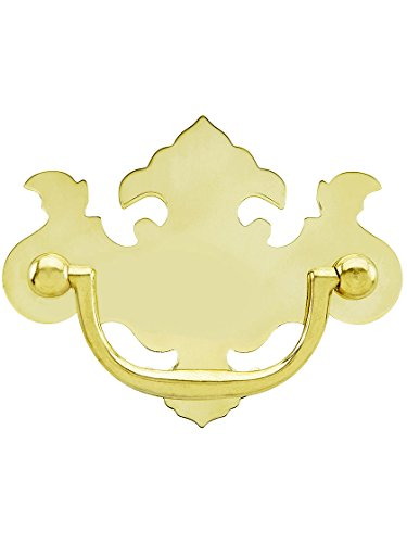 Chippendale-Style Brass Bail Pull - 2 1/2