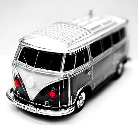 JeVx Altavoz Furgoneta Volkswagen T1 Bluetooth USB para Pendrive ...