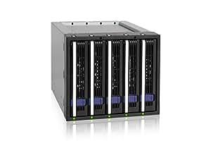 "Icy Dock MB155SP-B 3.5"" Negro recinto de almacenaje - Disco duro en red (3.5"", SATA, Serial ATA II, Serial ATA III, Negro, 1 Ventilador(es), 6 Gbit/s, 1,26 kg)"