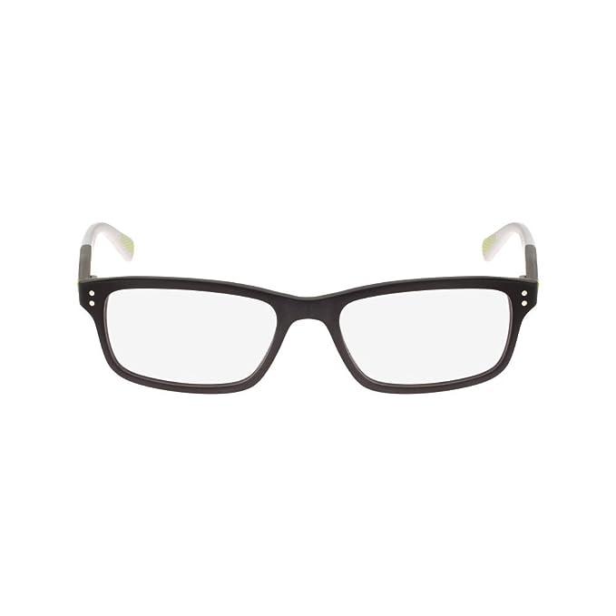 Nike 7237 002 52, Monturas de Gafas para Hombre, Matte Black/Dark Grey