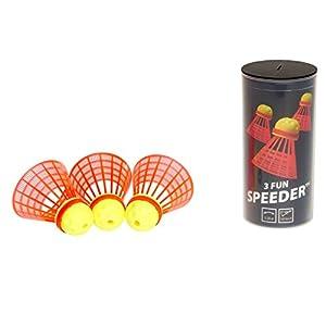 Speedminton Bälle 3er Speeder Fun Tube, Gelb/Rot, One Size, 400221