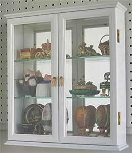 Amazon Com Small Wall Mounted Curio Cabinet Wall Display
