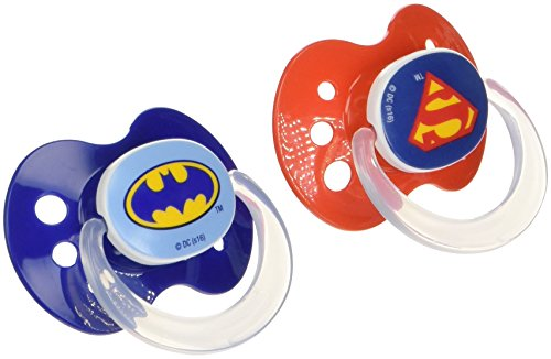Playtex Silicone Super Friends Binky 2 Piece Pacifiers (Styles/Colors May Vary) ()