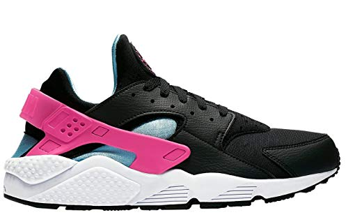 Nike Men's Air Huarache Run Black BV2528-001 (Size- 13), Black/Laser Fuchsia-blue Gale-white