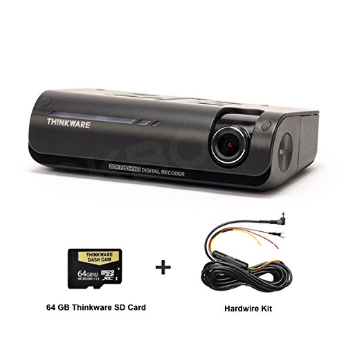 THINKWARE F770 1-Channel Dash Cam | Front + Hardwiring Kit | 1080P HD Dash Cam with Sony Exmor Sensor + Built-in WiFi + Super Night Vision - 64GB SD Card
