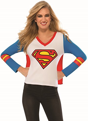 Rubie's Costume Co Women's DC Superheroes Supergirl Sporty Tee, Multi, Large (Supergirl Sexy Costume)