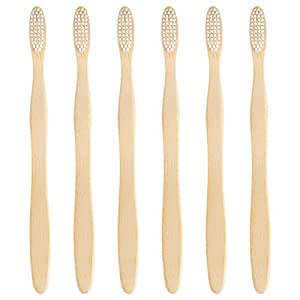 Bekith Eco-Friendly Bamboo Toothbrush Adult Size – Natural Dental Care for Men & Women, Set of 6