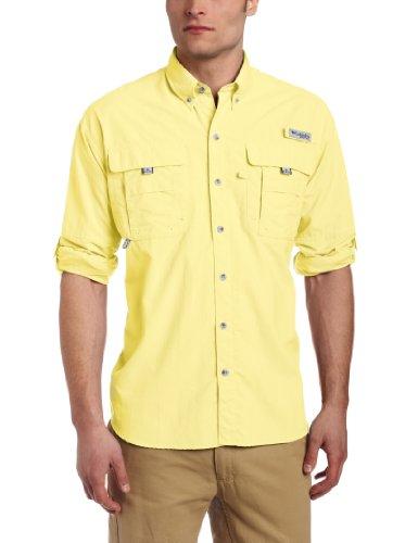 Columbia Men's Bahama II Long Sleeve Shirt, Large, Sunlit