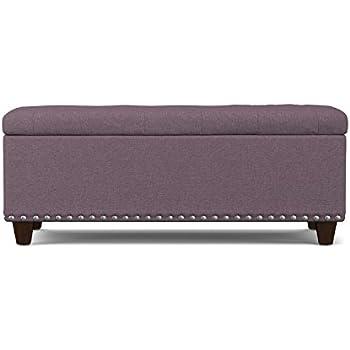 Amazon Com Classic Tufted Plum Purple Velvet Bench