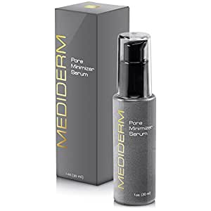 Best Skin Tightening Pore Minimizer Serum For Women & Men - Powerful Natural Pore Shrinking Oil Free Treatment Gel Cream Tightens Loose Skin Almost Instantly For a Matte, Shine-Free, Flawless Skin