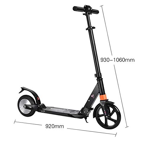 Freelance Shop Sport ALFAS 150W 15Km/h Portable Electric Scooter Adults Kids Adjustable Foldable E-Scooter - Black