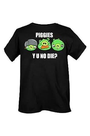 Angry Birds Piggies Why T-Shirt Size : Medium