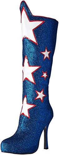 Blue Costumes Boots (Ellie Shoes Women's 420-Hero Boot, Blue, 7 M US)