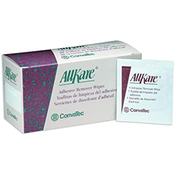 AllKare Adhesive Remover Wipes - - Box of 50