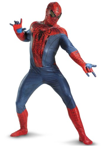 Disguise Mens Amazing Spiderman Movie Elite Theatrical Quality Marvel Costumes, Plus (50-52)